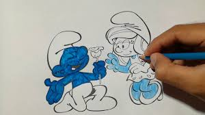 smurfs coloring page the smurf are asking love coloring book for