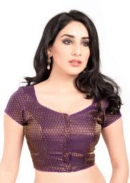 blouse pic buy purple brocade padded stitched blouse from muhenera