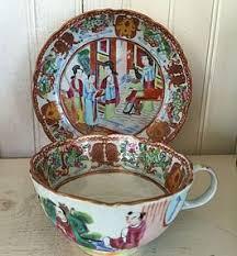 mandarin porcelain famille mandarin porcelain cup saucer c 1810 item 1273211