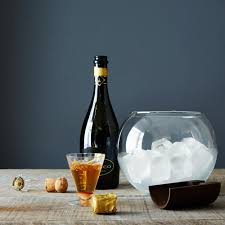 handblown glass ice bucket on food52