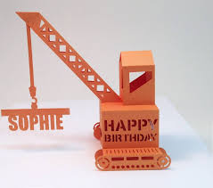 pop up birthday card personalised popup crane birthday card by paperfiction