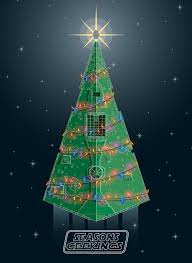 wars christmas wars christmas card destroyer christmas tree geektyrant