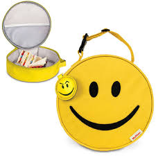 com 1 x round smiley face soft lunch box childrens lunch boxes