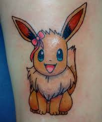 cartoon couple tattoos cute eevee pokémon tattoo venice tattoo art designs