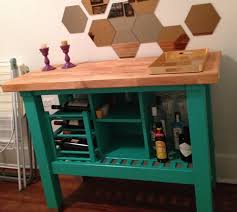 Groland Kitchen Island Unique Groland Kitchen Island Painted With Small Wooden Wine Rack