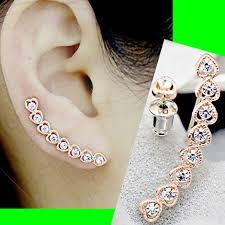 ear pin stringed hearts clip ear pin asymmetric set 2 pieces