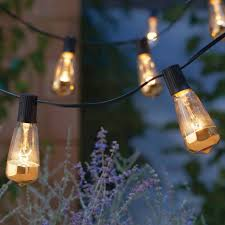 Bulb String Lights Chic String Lights For Backyard Party Instyle Com