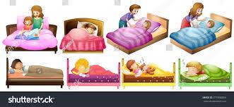 boys girls bed illustration stock vector 371898856 shutterstock