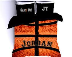 Sports Themed Duvet Covers Basketball Bedding Etsy