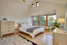 modern master bedroom with carpet u0026 hardwood floors in seattle wa