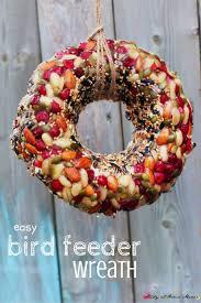 kid made bird feeder wreath recipe bird feeder beautiful