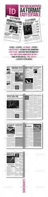 free newspaper layout template indesign resume indesign modern newspaper magazine template a4 by zigazi83