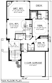 how to design floor plans ranch style house plan 2 beds 2 baths 1642 sq ft plan 70 1241