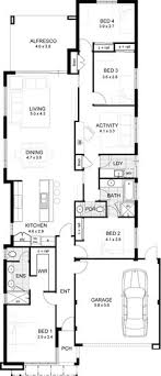 floor plans for narrow lots ardross single storey narrow home design floor plan