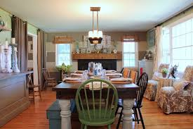 Farmhouse Style Dining Chairs Farmhouse Tables Kitchen Contemporary With Tolix Stools