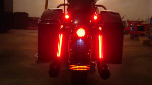 Led Strip Tail Lights by New Brake Light Strip For Street Glides Fills The Gap Harley