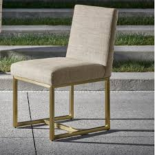 Gold Dining Chairs Gibson Modern Fabric Brushed Gold Dining Chair Zin Home