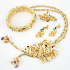 new gold set aliexpress buy women bead necklace jewelry sets