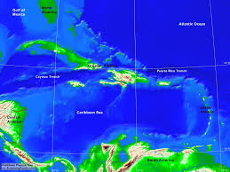 Map Caribbean Sea by Caribbean Physical Map A Learning Family