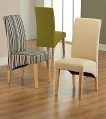 Fabric Dining Room Chairs Striped Fabric Dining Chair