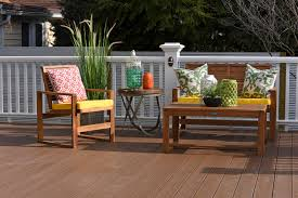 Composite Patio Furniture Deck Makeover After Shot Timbertech Tropical Collection Deck In