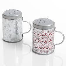 home general store hollydale galvanized salt u0026 pepper shaker set