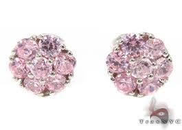 pink diamond earrings pink diamond cluster earrings 12514
