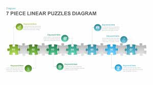 Fishbone Diagram Template Ppt by 7 Section Linear Puzzles Diagram Powerpoint And Keynote Template