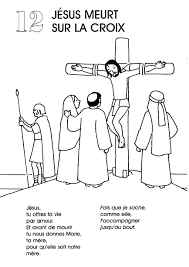 stations of the cross coloring pages 12 jesus dies on the cross