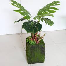 philodendron 72cm artificial split leaf philodendron with pot dongyi