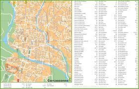 Map Of France Cities by Carcassonne Streets Map