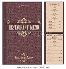 restaurant menu design template vector stock vector 132963305