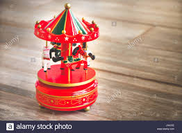 merry go carousel carillon horses vintage stock