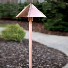 Copper Landscape Lighting Fixtures Clarolux Fabriano Series I Copper Path Light W Circular Led G4