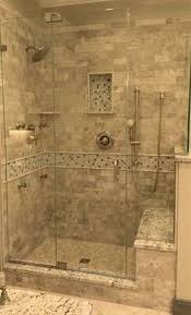 master bathroom tile designs our large master bath shower window and bench are to the left