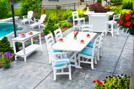 White Patio Dining Set by Furniture Stunning Polywood Furniture For Outdoor Furniture Ideas
