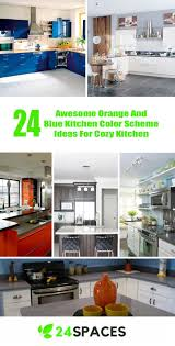 kitchen color scheme ideas 24 awesome orange and blue kitchen color scheme ideas for cozy