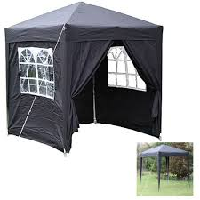 bbq tent outdoor pop up gazebo panel windows curtains tent picnic bbq