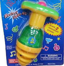 musical dreidel hanukkah musical bouncing dreidel plays 2 songs assorted import