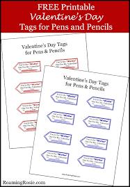 valentine u0027s day free printable tags for pens u0026 pencils roaming rosie