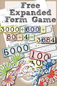 free printable place value game learning expanded form kid