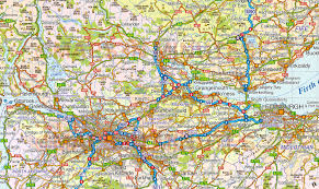 Highly Detailed River Map Of by Vector Scotland Map Regions Political Road U0026 Rail 500 000