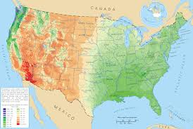 United States Maps by Average Precipitation In The Lower 48 States Of The United States