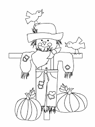 happy thanksgiving pictures to color scarecrow coloring pages getcoloringpages com