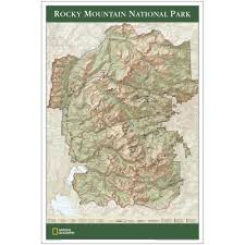 Rmnp Map Rocky Mountain National Park Map Poster National Geographic Store