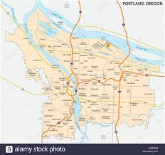 Maps Portland Oregon by Road And Neighborhood Map Of Portland Oregon Stock Vector Art