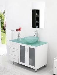 abaco 39 inch vessel sink bathroom vanity tempered glass top