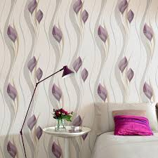 Bedroom Purple Wallpaper - peace floral wallpaper purple flower wall coverings by graham