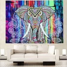 wall carpet elephant tapestry colored printed 130cmx150cm 153cmx203cm boho