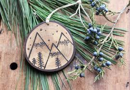 etsy item of the day wood burned ornaments